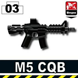 Black M16A2 Assault Rifle for LEGO army military brick minifigures