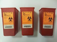 3 Pack Sharps Container Biohazard Needle Disposal 1 Qt Size