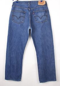 Levi's Strauss & Co Hommes 501 Slim Jeans Jambe Droite Taille W38 L32 BCZ904