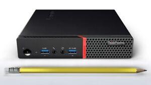 New Lenovo M900 i7-6700T 256GB PCIe SSD 8GB Win10 Pro Micro Tiny Desktop Home PC