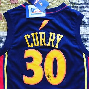 new style a273a 7857c Details about Stephen Curry Signed Autograph Golden State Warriors Jersey  NBA USA PROOF