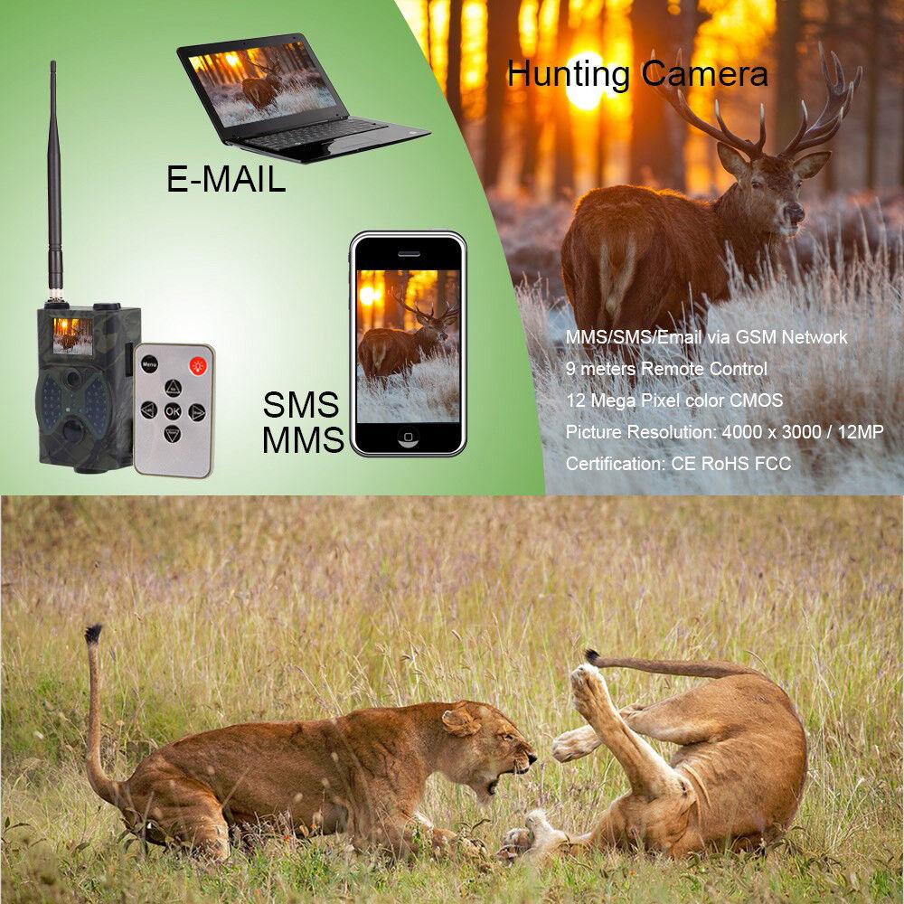 Hc300m 12mp Digital Excursiones Cámara 2g Mms Envíenos un Correo Gprs Gsm 940nm