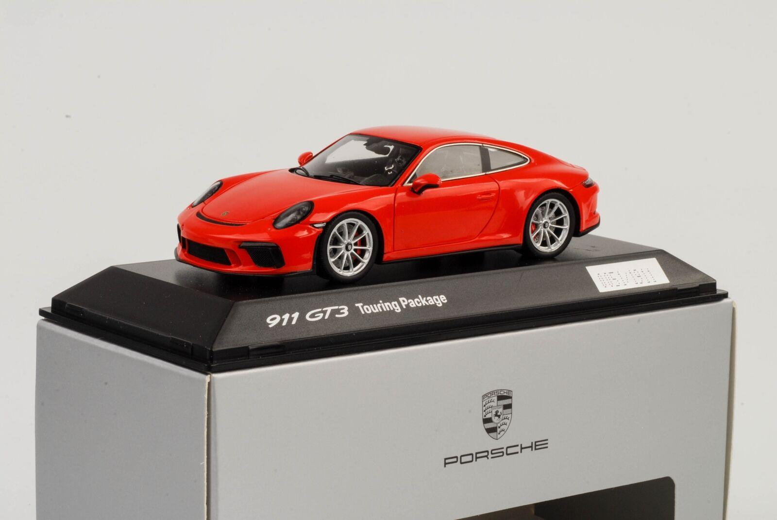 perfecto 2018 Porsche 911 991 gt3 Touring package lavaNaranja lavaNaranja lavaNaranja 1 43 Spark dealer WAP  hasta un 70% de descuento