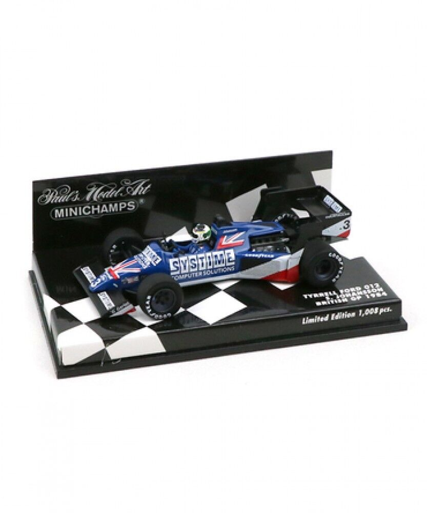 Nuovo Mini Champs 1/43 Scale Tyrell Ford 012 S. Johansson 1984 British GP Japan