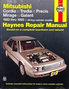 haynes repair workshop manual mitsubishi cordia galant ebay rh ebay com 2003 Mitsubishi Galant Repair Manual 2007 Mitsubishi Galant Repair Manual