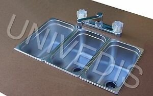 CONCESSION-Sink-STAND-Trailer-three-3-COMPARTMENT-NEW-ATTACHED