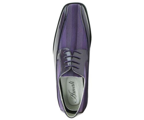 Amali Men/'s Lace Up Tuxedo Oxford with Satin Striped Design Oxford Dress Shoe