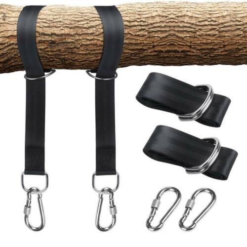 Baum Schaukel Hängeset Hängebänder Seil Karabiner OutDoor Camping Hängegürtel
