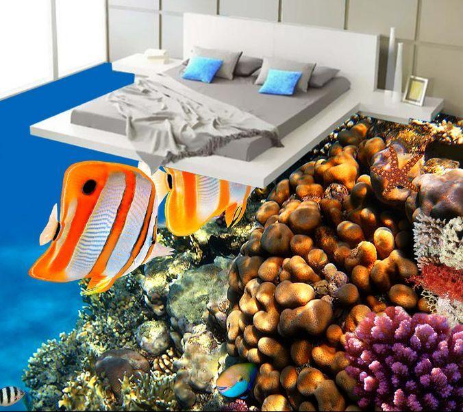 3D Sea Various Fish Reef Floor WallPaper Murals Wall Print Decal 5D AJ WALLPAPER