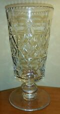 "Mid 19th C. Blown & Cut Clear Flint Glass Celery Vase poss. Pittsburgh 8-1/4"" h."