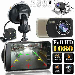 HD-1080P-Dual-Lens-Car-Van-Dash-Cam-DVR-Recorder-4-034-LCD-With-Rear-Video-Camera