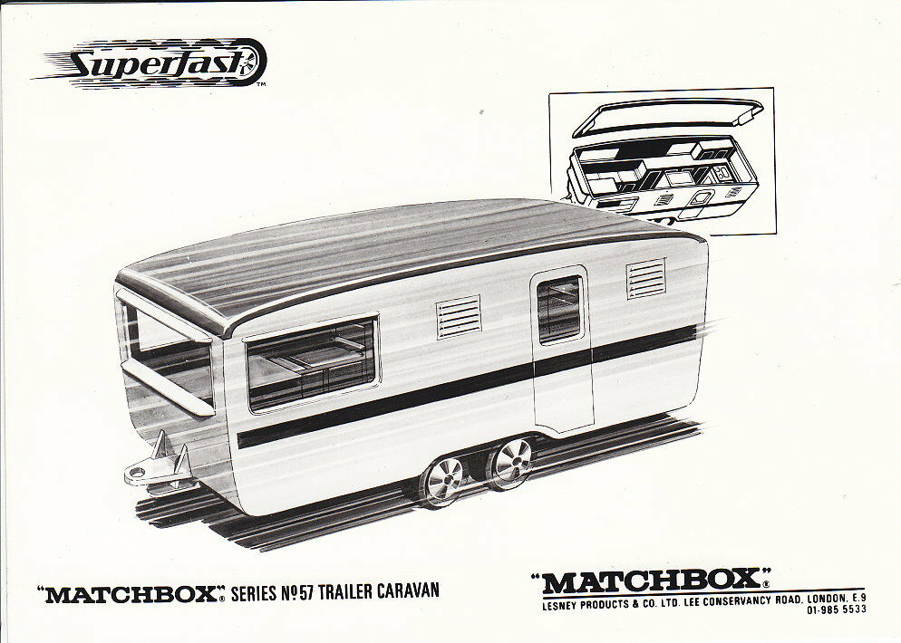 MATCHBOX News juin 1970 superfast 57b Eccles Caravane Caravane avec s & w photo | L'exportation