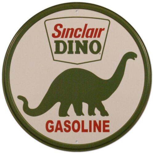 Sinclair Dino Gasoline Vintage Round Metal Tin Sign 12 x 12in
