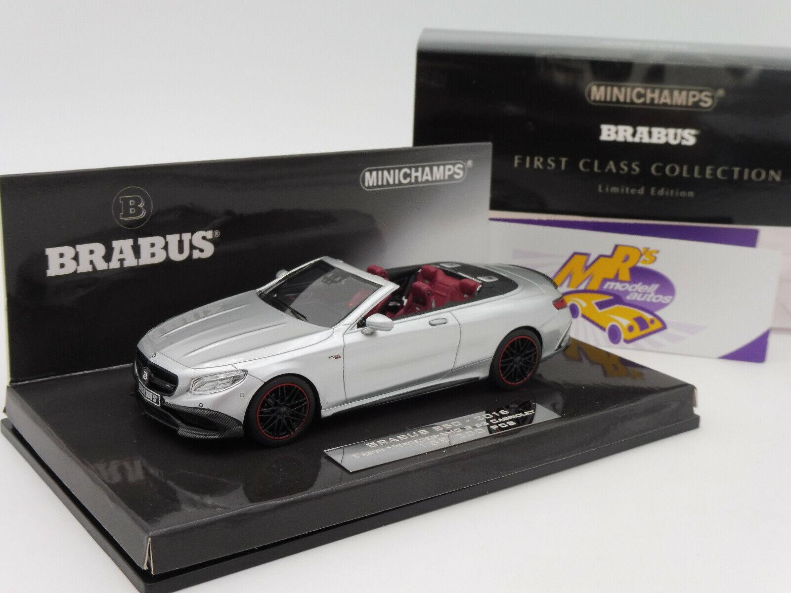 Minichamps 437034232 Mercedes Brabus 850 S 63 Cabrio AMG Bj. 2016 silver 1 43