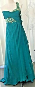 Ladies-Dress-One-Shoulder-Formal-Princess-Bridesmaid-Lined-Cut-Outs-Sz-18-BNWT