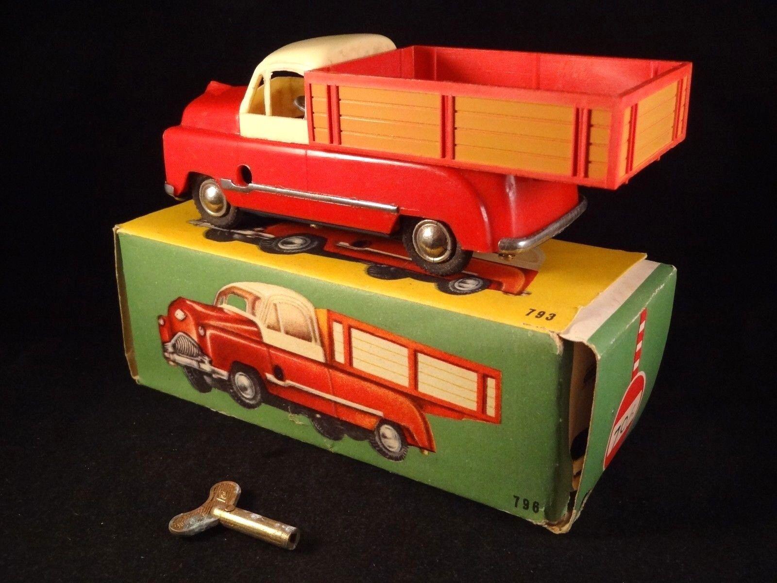 Ancien jouet camion benne mécanique boîte d'origine Made in Spain PAYA 1950 60