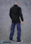 """【FREE SHIPPING】1//6 BLACK Long Sleeves Shirt Blue Jeans for 12/"""" MALE Figure"""