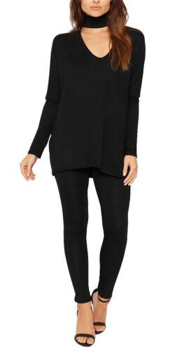 Womens Choker Neck Loungewear Tracksuit Ladies Top /& Leggings Set Nightwear Suit