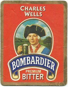 BOMBARDIER-Premium-BITTER-CHARLES-WELLS-Sottobicchiere-identico-ante-retro