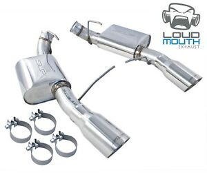 "2011-2012 Mustang Shelby GT500 SLP Axle Back Muffler Exhaust Kit 4"" Chrome Tips"