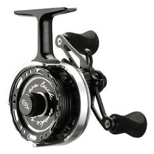 13 Fishing Black Betty 6061 Left Hand Ice Fishing Reel w  FREE HAT ... a8806a11b044