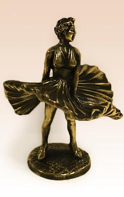 Don Quixote Miniature Bronze Figurine sculpture manual processing rare