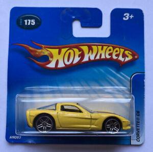 2005 HOTWHEELS Chevy Corvette C6 V8 GIALLO! Nuovo di zecca! molto rara!