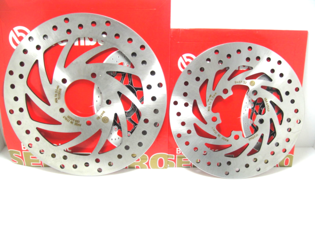7B0+732 BREMBO BRAKE DISCS FRONT + REAR SPORTCITY CUBE 125 FROM 2009