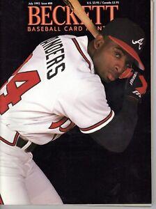 Beckett-Baseball-July-1992-Cover-Deion-Sanders-Back-Perez-Rose-Bench