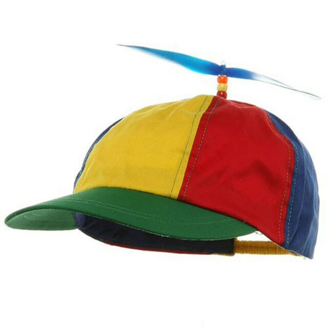 a826310e091 Propeller Beanie Baseball Clown Costume Hat Ball Cap Multi Colored Adult  Size