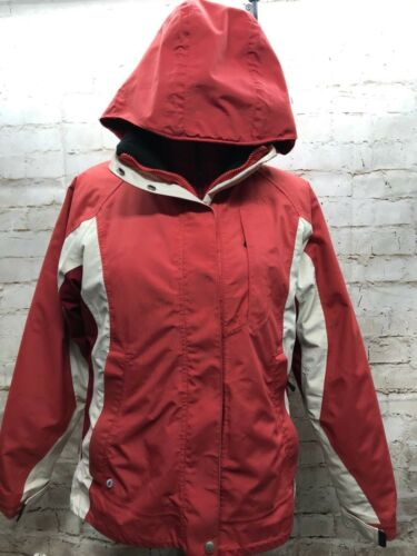 med Ll Red Bean Liner Hooded Med aftagelig Coat Women's Full Zip Shell YWUqarwY
