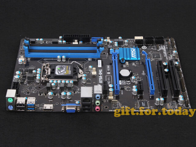 MSI B75A-G41 Motherboard MS-7758 Intel B75 LGA 1155//Socket H2 DDR3