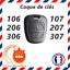 Coque-Cle-Plip-pour-Peugeot-106-206-306-406-2-bouton-avec-vis-sans-lame miniature 2