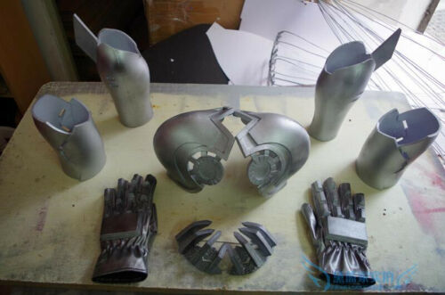 One Punch Man Genos Costume Arms Cosplay Props Body Armor+Gloves+Mask Full Suit