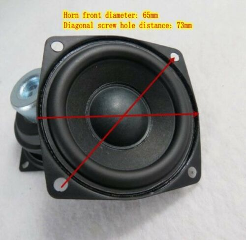 "2pcs 2.5/""inch 4ohms 10W neodymium Full range speaker Middle woofers Rubber edge"