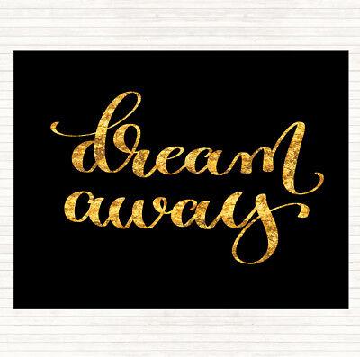 Black Gold Dream Away Preventivo Tavola Tovaglietta Americana-