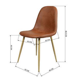 Lot-de-4-Chaises-de-Salle-a-Manger-Retro-Style-Pieds-en-Bois-Salon-Cafe-Marron