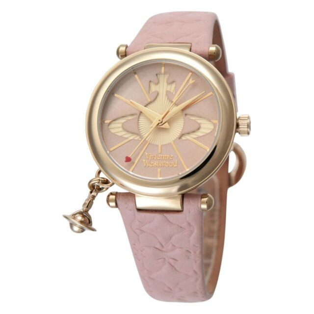 0603ad4399 Vivienne Westwood Orb VV006PKPK Ladies Watch Pink Leather Strap With  Tracking