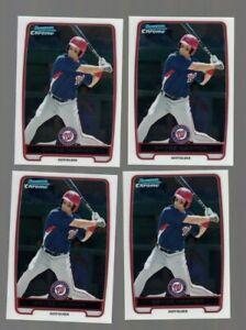 Bryce-Harper-2012-Bowman-Chrome-Prospect-Baseball-Card-Lot-of-4-BCP10