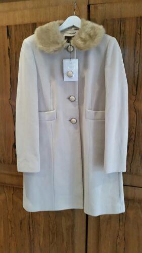 Wool Plains Collar Blend L Great Faux Cream Fur Bnwt Size vEYdxxqw