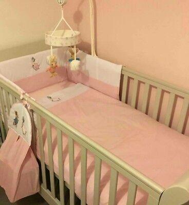 Beautiful Jemima puddleduck or peter rabbit  crib cot cotbed bumper set  choose