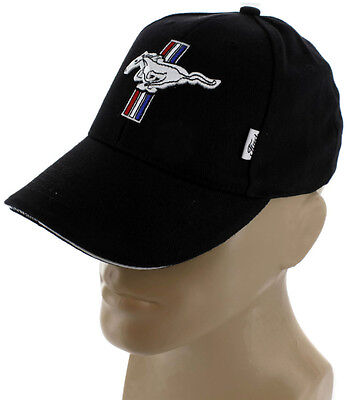 Black Ford Oval Logo Light Gray Baseball Cap One Size Fits Most