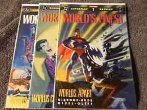 1990-DC-Comics-WORLD-039-S-FINEST-1-3-Complete-TPB-Series-SUPERMAN-BATMAN-VF-NM