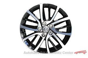 NEU-Original-VW-Leichtmetall-Felge-Alu-Felge-7Jx17ET49-Blade-schwarz-1-Stueck