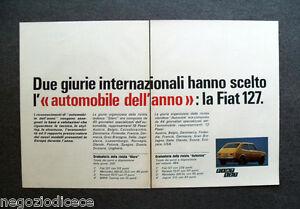 P148 - Advertising Pubblicità -1972- FIAT 127 AUTOMOBILE DELL'ANNO