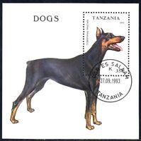(Ref-10886) Tanzania 1993 Dogs Miniature Sheet SG.MS1688 Used (CTO)