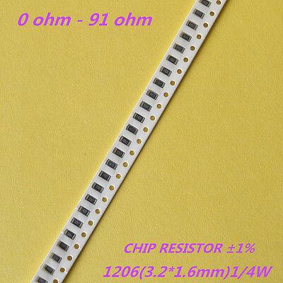 100pcs 0805 SMD Resistor 10 ohm 10R 5/% RoHS marking 100