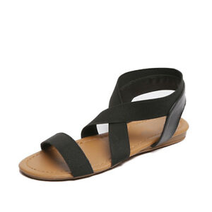 Women-Summer-Fashion-Flat-Leather-PU-Sandals-Ladies-Comfortable-Casual-Shoes-G