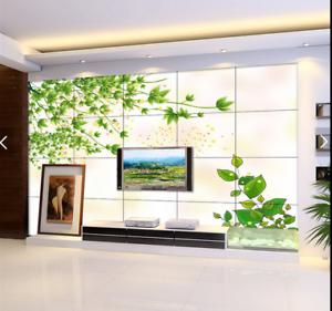3D Green Plant Star 7 Wall Paper Murals Wall Print Wall Wallpaper Mural AU Lemon
