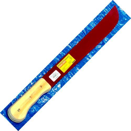 "Imacasa El Savador Machete 22/"" Rojo Red Blade Wood Handles 31--22DB-MI **L@@K**"